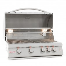 Blaze 4 Burner Grill Built-In Natural Gas Grill with Lights
