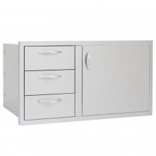 Blaze 39-Inch Access Door & Triple Drawer Combo
